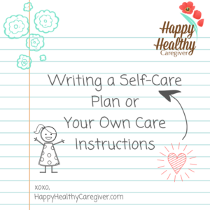 self care plan template